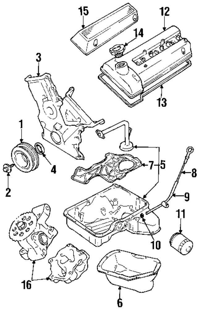 1999 Suzuki Grand Vitara Engine Diagram
