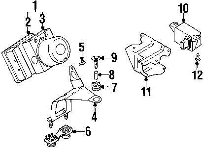 For BMW Genuine ABS Modulator Bracket 34516752664