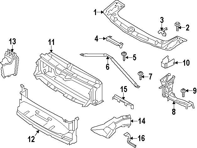 Buy Radiator Support Parts For Null Bmw 320i Xdrive Vehicle