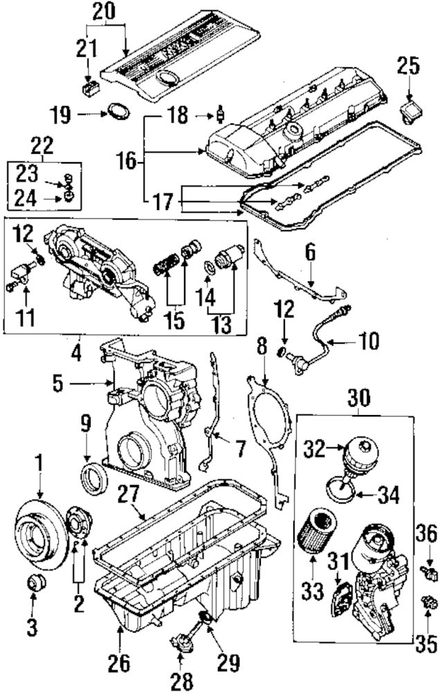 Genuine BMW Lower Timing Cvr Gasket 11141433639: BMW Activehybrid Engine Diagram At Goccuoi.net