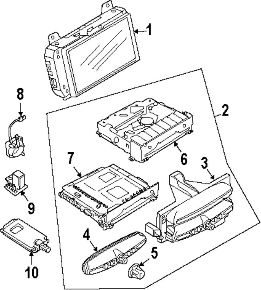 Buy Instrument Panel Navigation System Components Parts For Mini Cooper Brakes Diagram Genuine Knob Min 65833448385