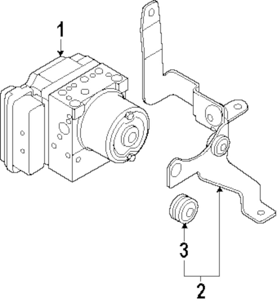 Browse A Sub Category To Buy Parts From 2009 Kia Sportage Engine Diagram Genuine Abs Control Unit Bracket 589602e000