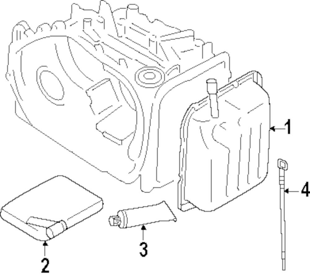 2005 Kia Sportage Transaxle Parts Fuel Filter Genuine Trans Pan Sealer 4c11635100