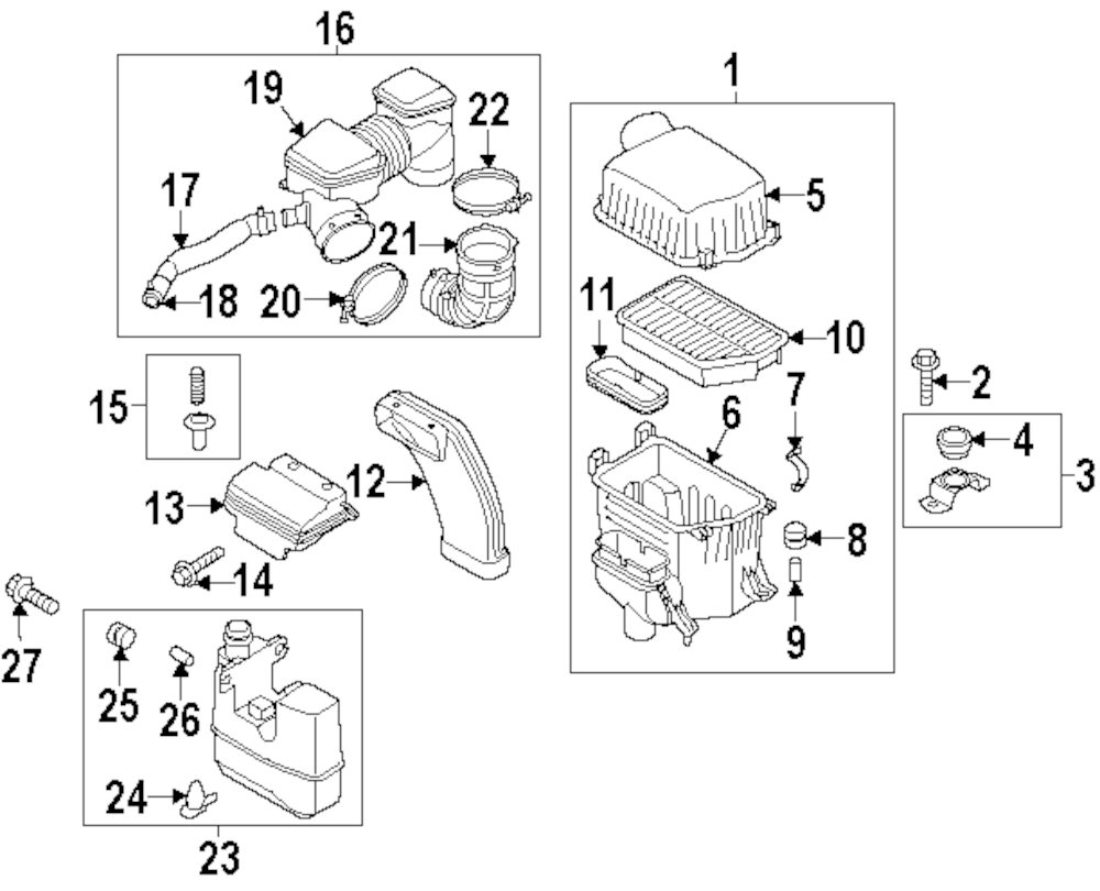 2013 kia soul engine parts diagram