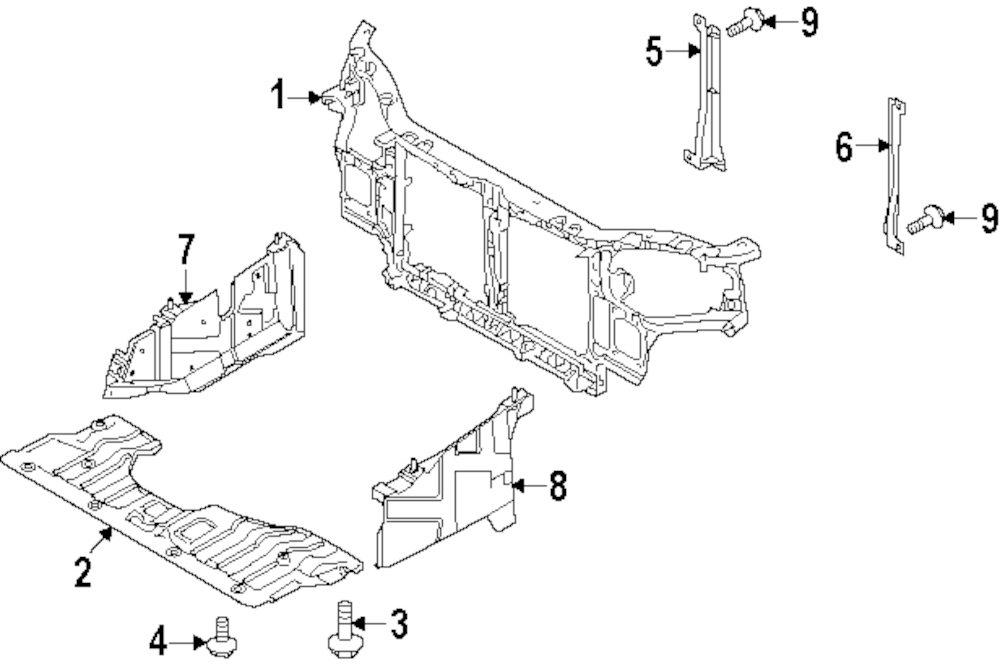 Buy Radiator Support Parts For Null KIA Spectra Vehicle. Genuine KIA Rear Cover Bolt 1125306203. KIA. KIA Spectra Fender Parts Diagram At Scoala.co