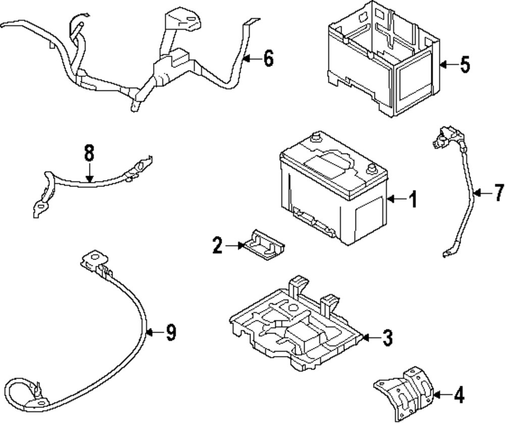 2013 Kia Optima Electrical Parts 100259 Wiring Schematic Genuine Battery 371101d680