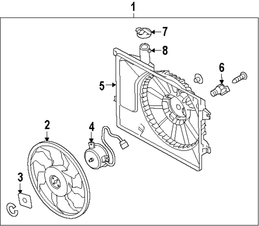 Mopar Direct Parts Dodge Chrysler Jeep Ram Wholesale Retail Resistor Wiring Diagram 2007 Kia Genuine Fan Shroud 253503x500