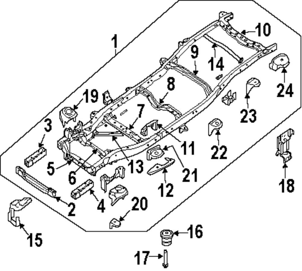 2014 NISSAN XTERRA Frame And Components Parts - Mopardirectparts.com ...
