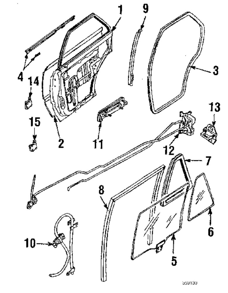 Body Hardware Parts For Mitsubishi