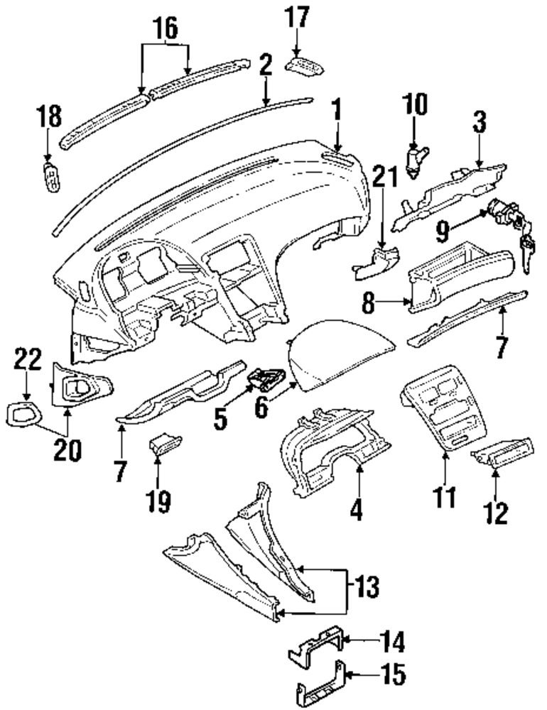 Instrument Panel Parts For Jeep J10 Vehicle