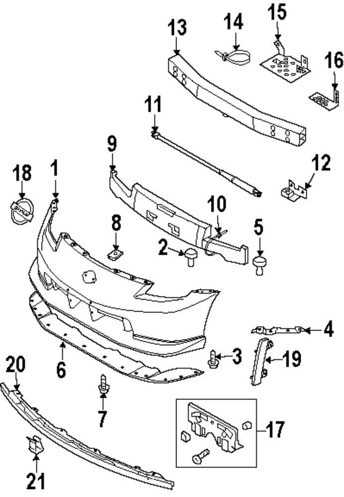 350z Front Bumper Diagram