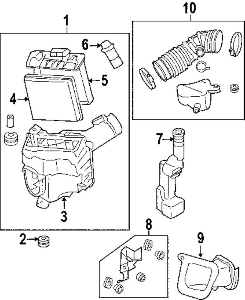 2010 toyota prius engine parts