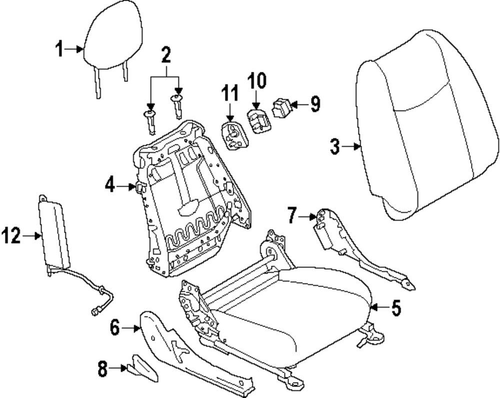 mopar direct parts dodge chrysler jeep ram wholesale retail parts 1972 Chrysler Imperial headrest guide
