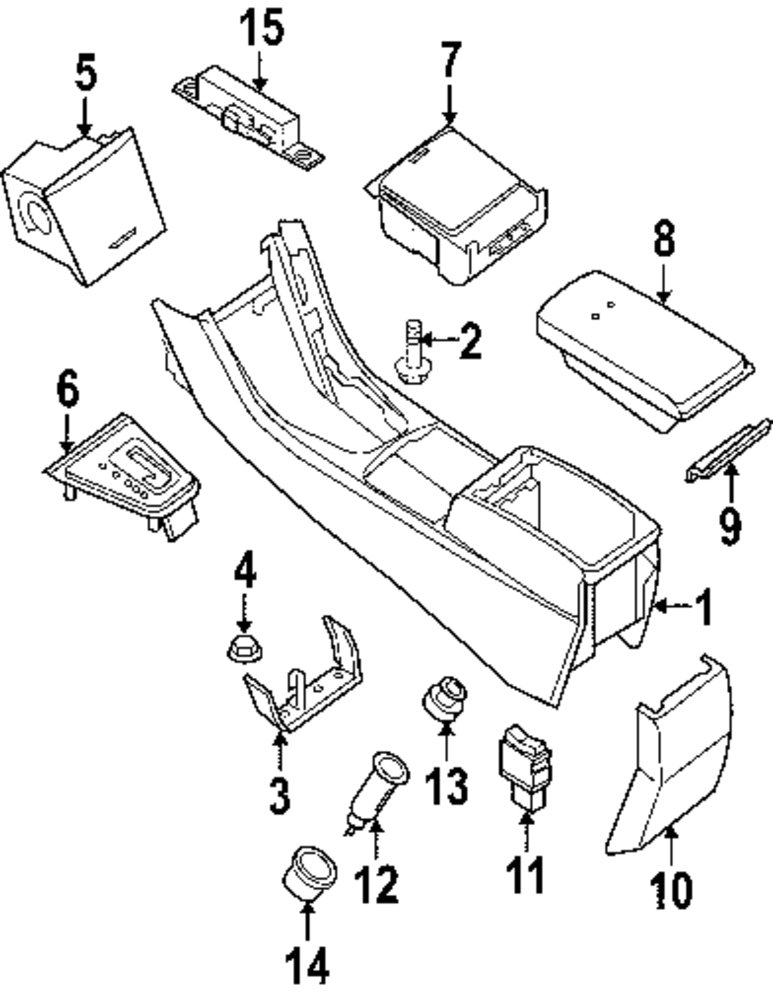 Buy Console Parts For Nissan Altima Vehicle