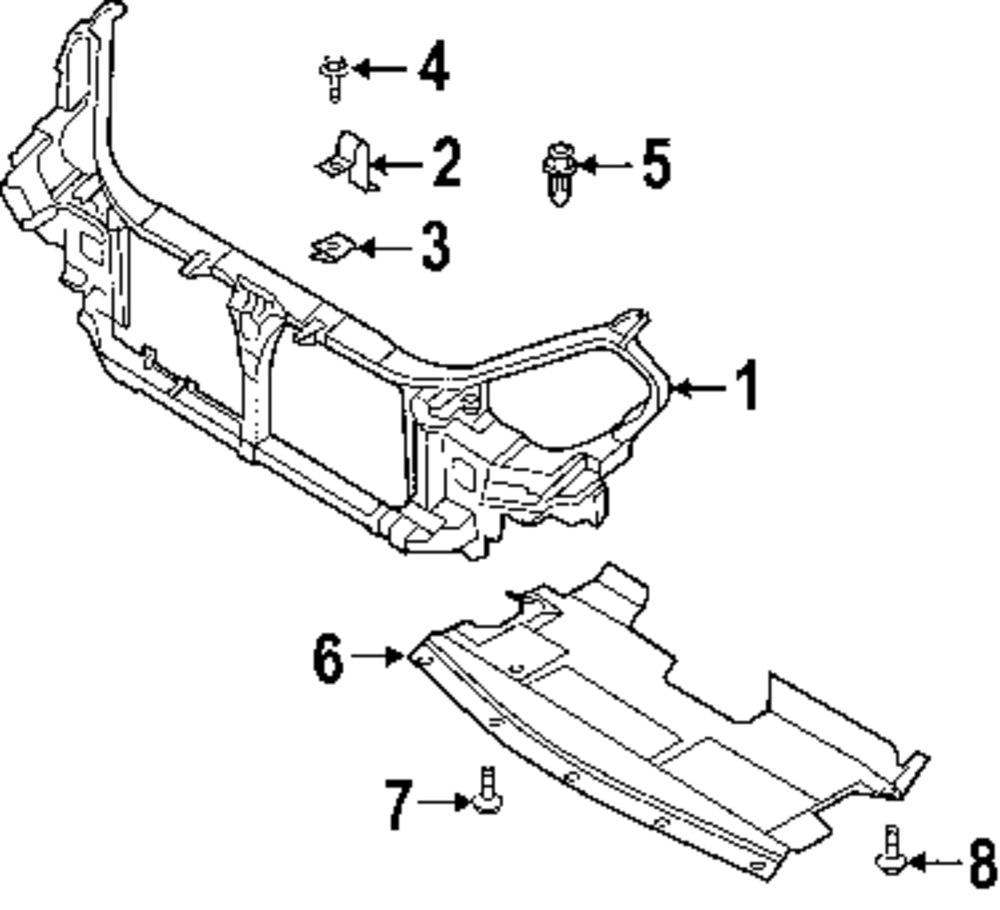 contemporary parts of a radiator diagram motif