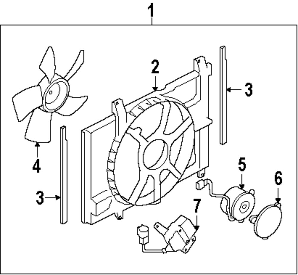 Browse A Sub Category To Buy Parts From 2011 Nissan Versa Engine Diagram Genuine Fan Motor Cover Nis 21491en000
