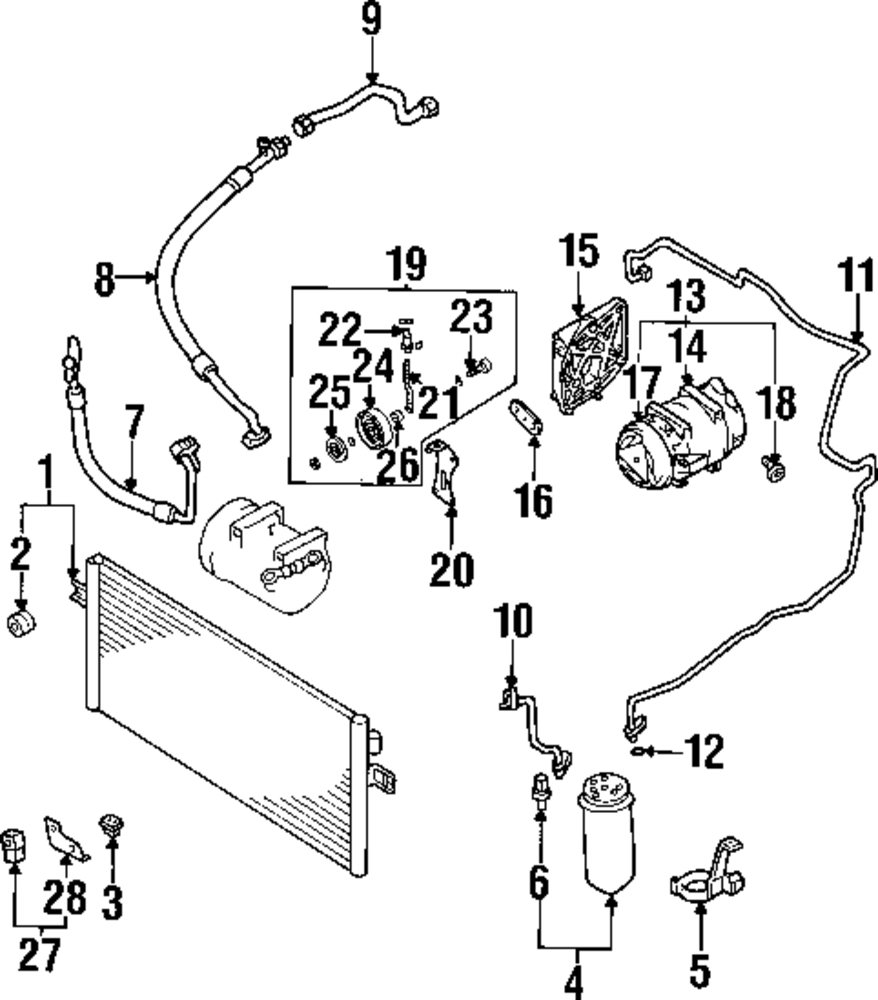 Infiniti Engine Diagrams Browse A Sub Category To Buy Parts From Genuine Ac Line Inf 924404l010