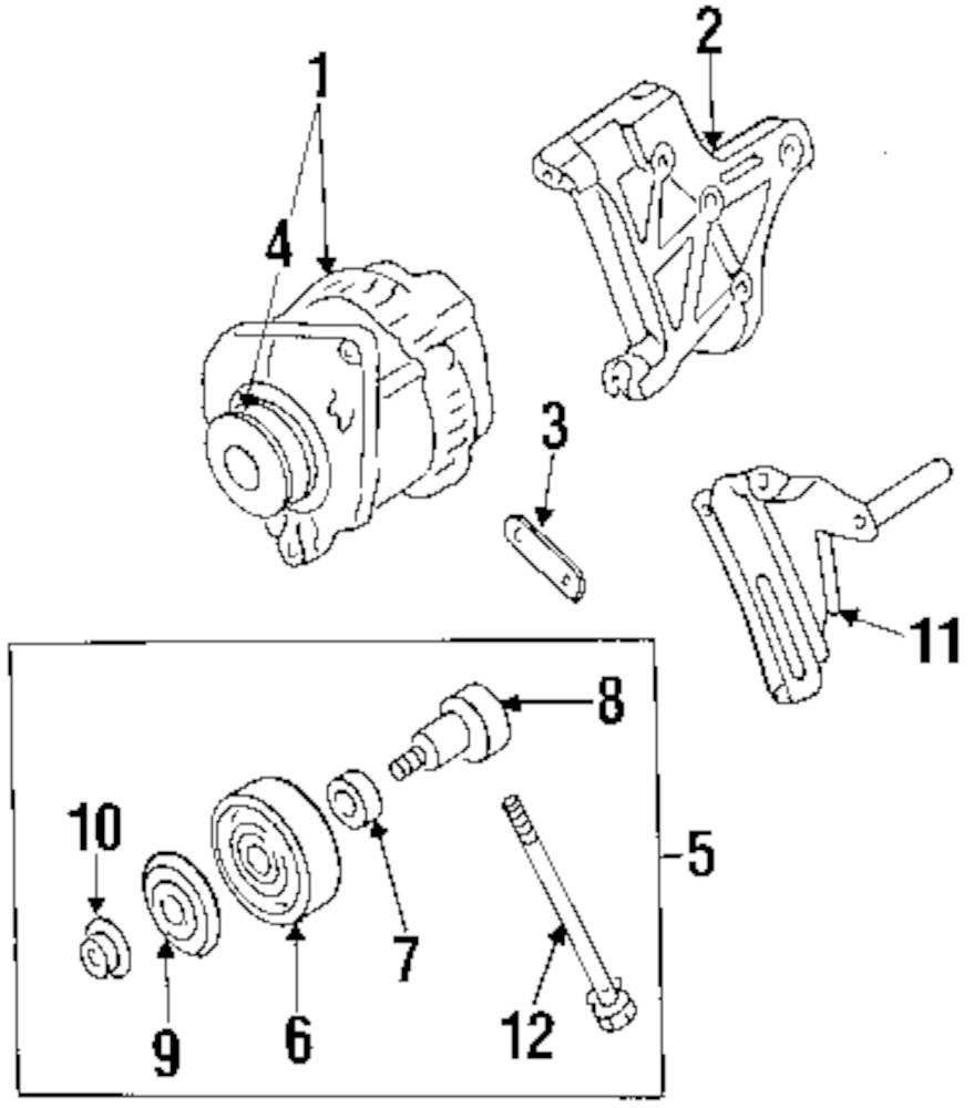 GENUINE INFINITI - TENSION PULLEY SHAFT - INF 119480W002