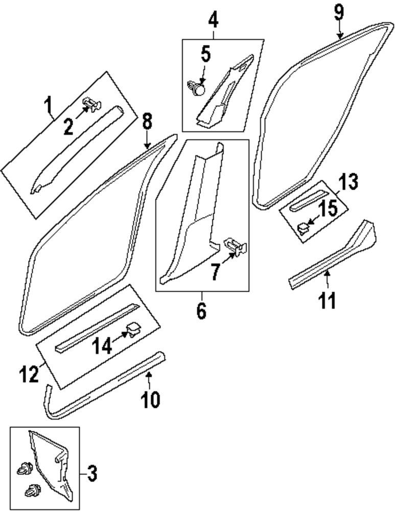 2009 Mitsubishi Outlander Pillars Rocker And Floor Parts
