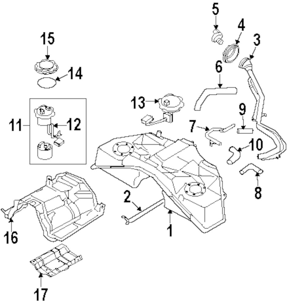 Buy Fuel System Parts For 2008 Infiniti Vehicle Mopardirectparts Pump Diagram Genuine Assy Inf 17040jk60a