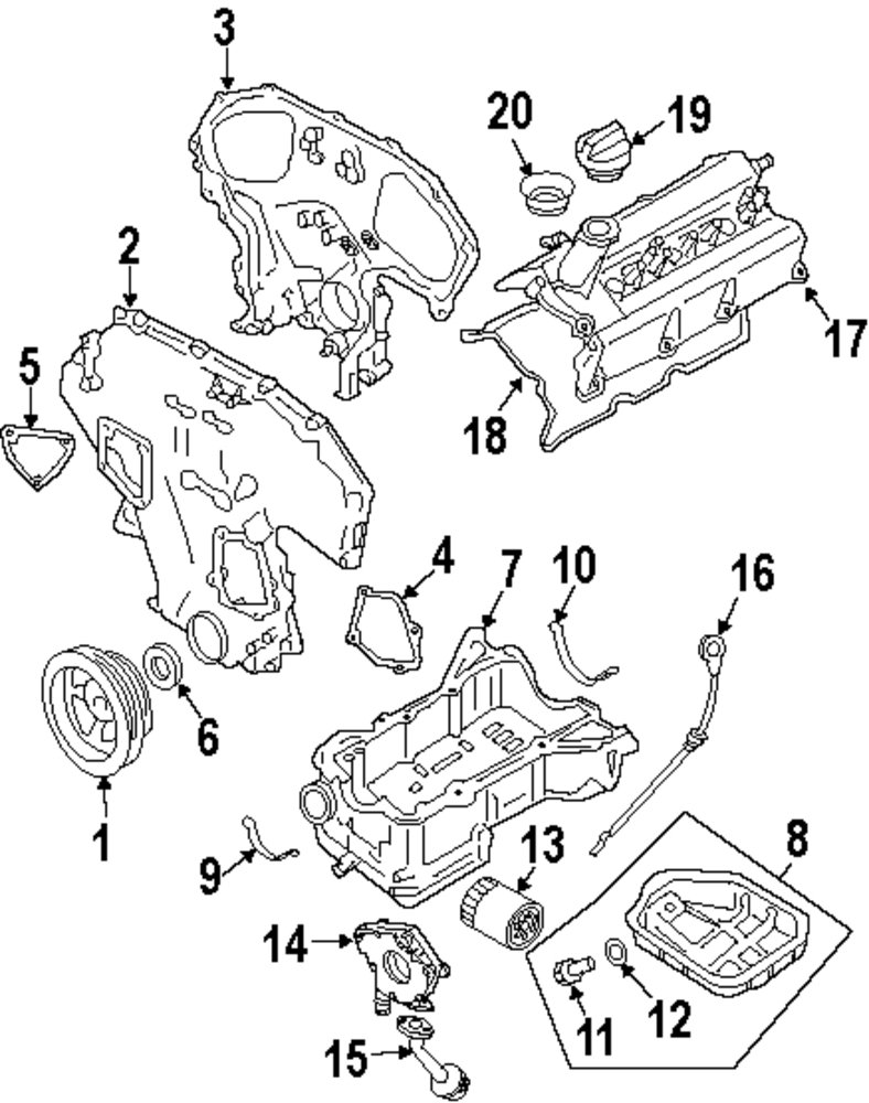 Buy Engine Parts For Fx35 Infiniti M35 Vehicle Diagram Genuine Lower Oil Pan Washer Inf 11026ja00a