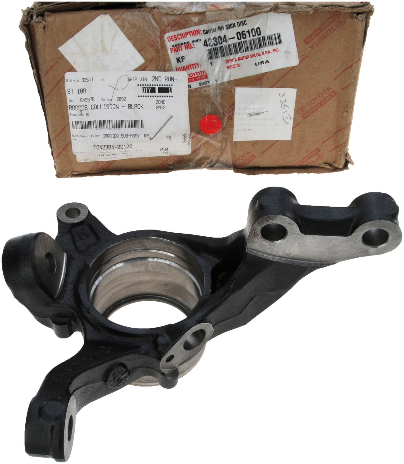 Genuine Oem Rear Suspension Mounting Parts For 1990 Toyota: TOYOTA OEM Rear Suspension-Knuckle Spindle 4230406100