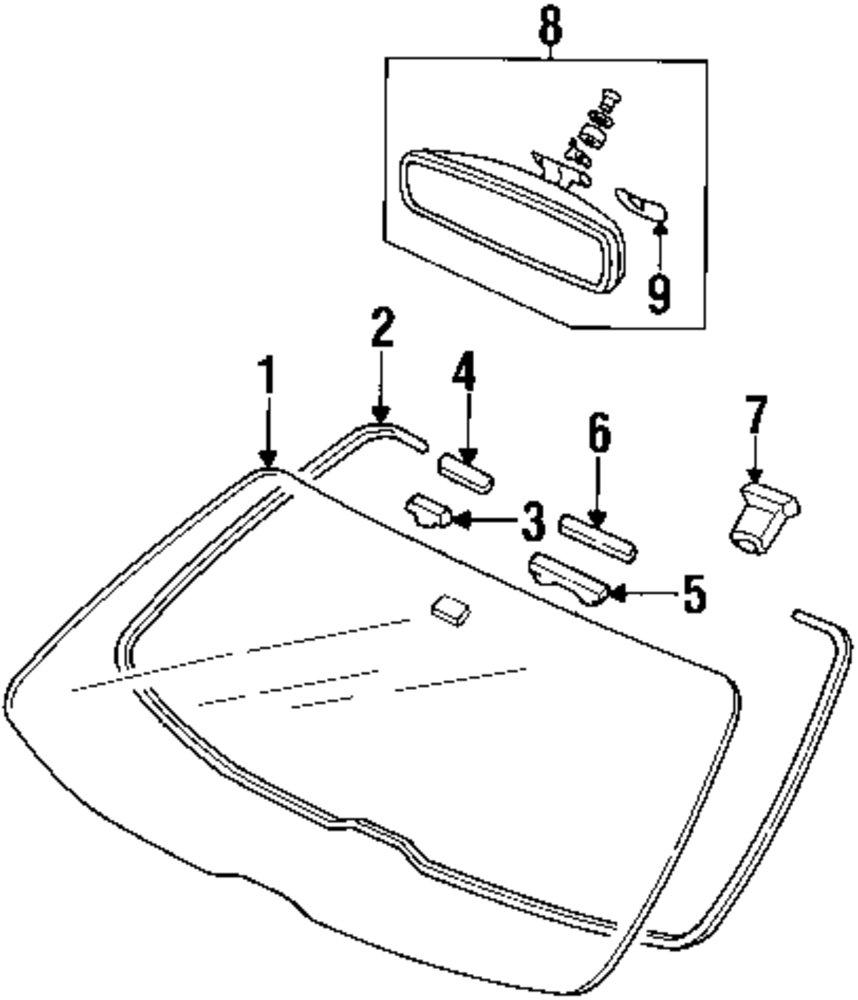 Buy Windshield Parts For Honda Prelude Vehicle Mopardirectparts Mirror Diagram Genuine Glass Fastener Hon 73127ss0000
