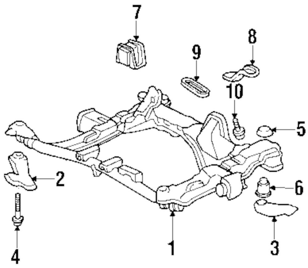 Mopar Direct Parts Dodge Chrysler Jeep Ram Wholesale Retail Front Suspension Diagram Genuine Honda Susp Crossmember Stay Hon 50232s0xa00
