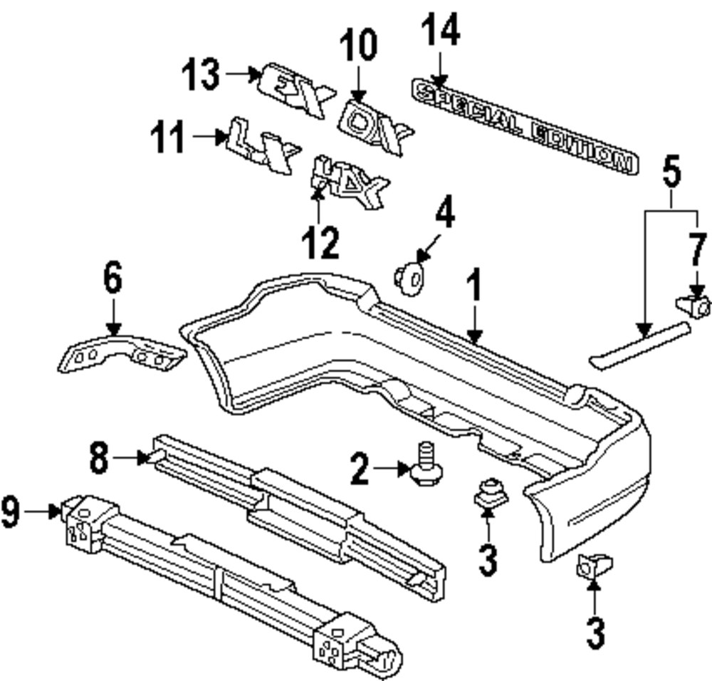 mitsubishi endeavor body parts catalog