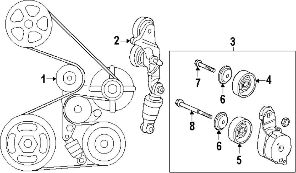 Mopar Direct Parts Dodge Chrysler Jeep Ram Wholesale Retail. Genuine Honda Tensioner Hon 31170r70a01. Honda. 2007 Honda Accord V6 Serpentine Belt Diagram At Scoala.co