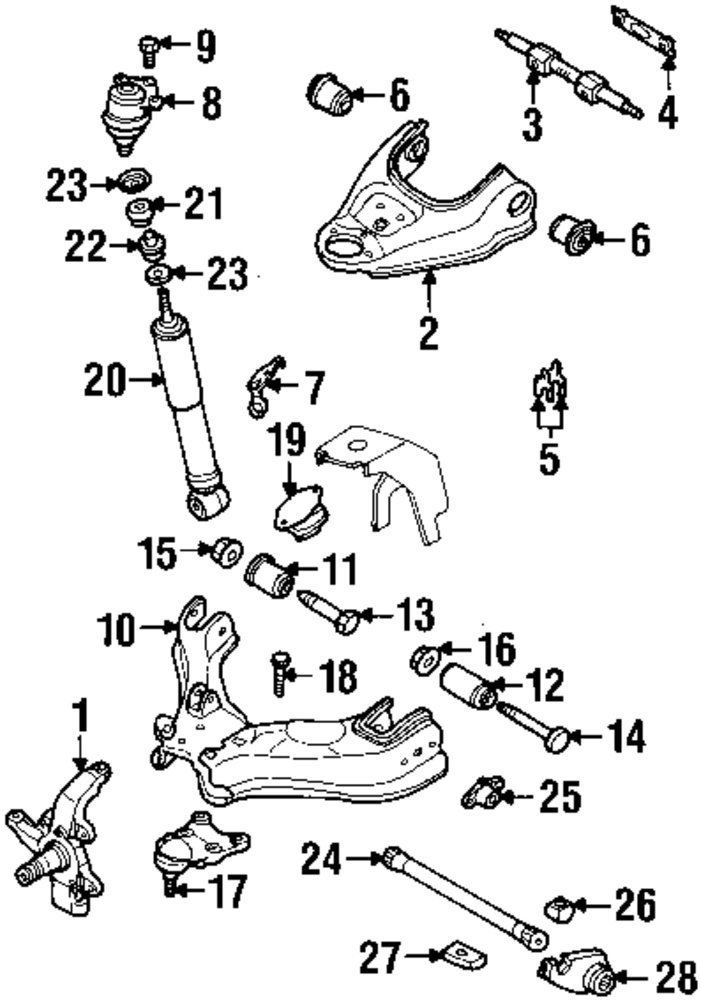 isuzu rodeo sport front suspension