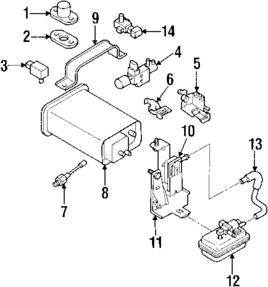 Isuzu I 370 Engine Diagram Wiring Library Genuine Vacuum Valve Isu 8970863480