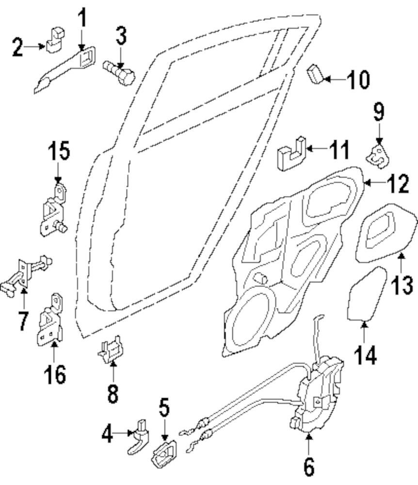 2006 Mazda 3 Lock And Hardware Parts 100259 Engine Diagram Genuine Drain Valve Maz Ga2a58867a