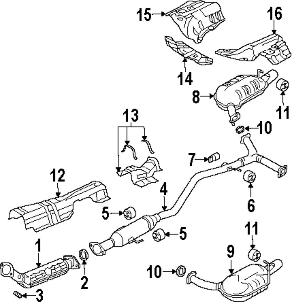 Mazda Exhaust Diagram Great Design Of Wiring 2006 5 2004 Tribute 34 2008 3 2005