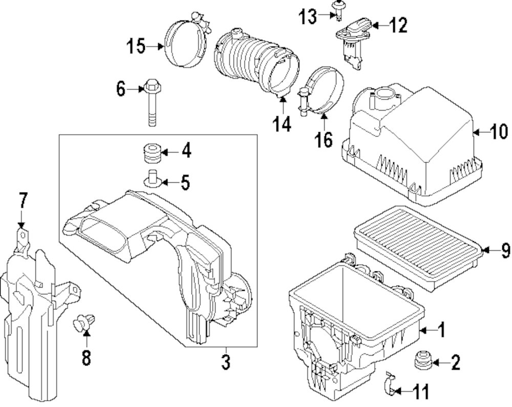 Browse A Sub Category To Buy Parts From Mazda 6 Engine Diagram Genuine Air Mass Sensor Screw Maz 9ya750403