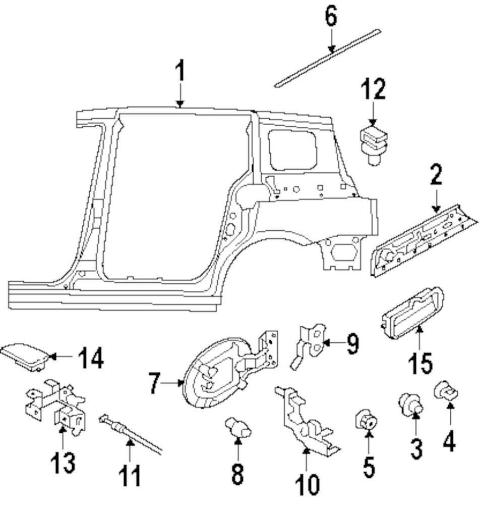 2006 Mazda 5 Side Panel And Components Parts Engine Diagram Genuine Opener Cable Clip Maz Ge4t56833