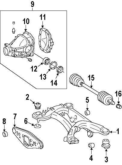 mopar direct parts dodge chrysler jeep ram wholesale retail parts 1999 Honda Civic Rear Suspension bearing