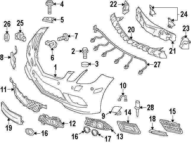 mini cooper front bumper diagram