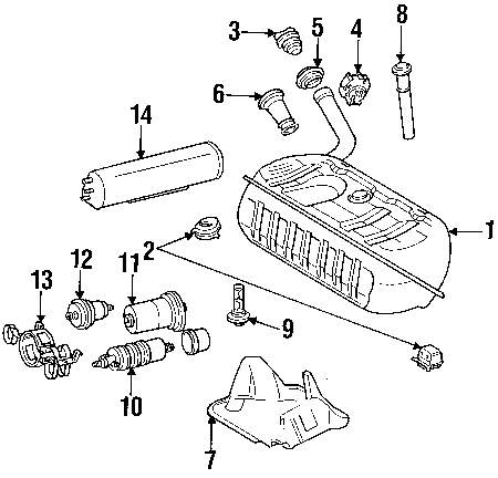 mercede benz fuel system diagram