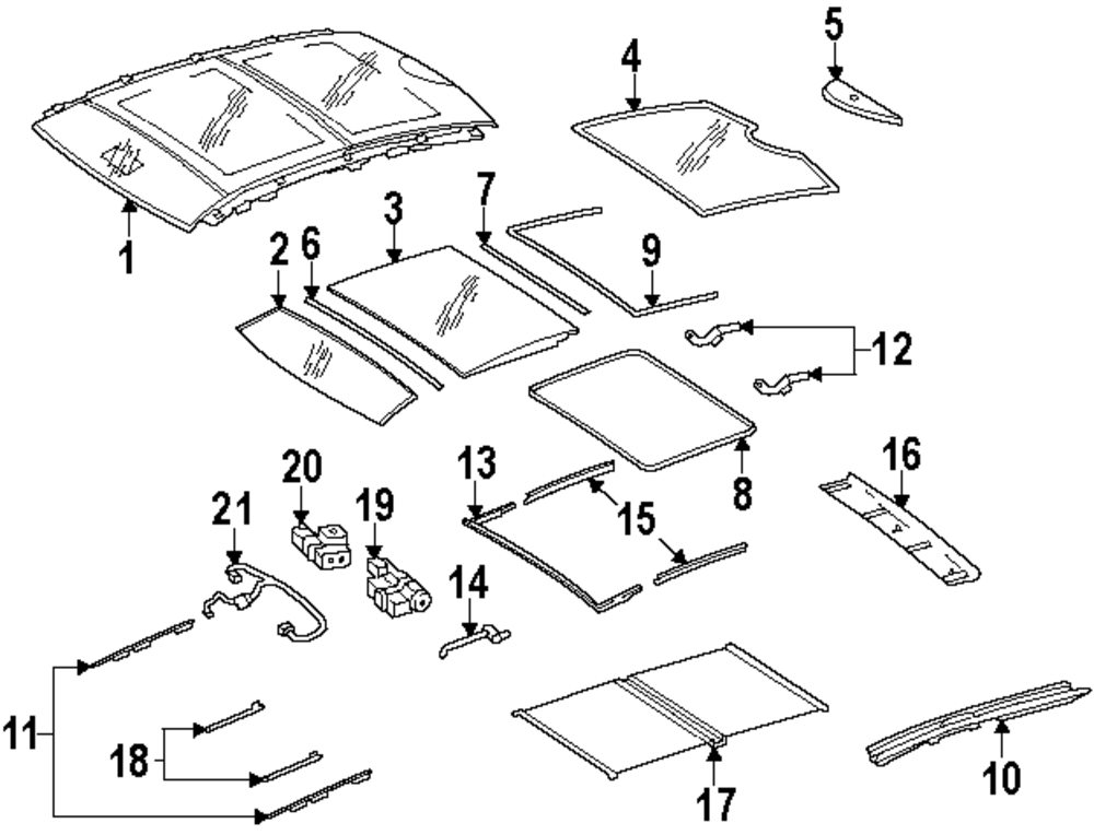 2015 bmw 550i gt roof parts for Mercedes benz part numbers list