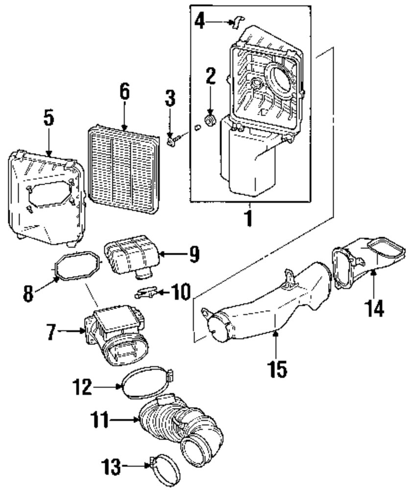 1998 Mitsubishi Eclipse Engine And Transaxle Parts Diagram Genuine Connector Tube Mit Mr239212