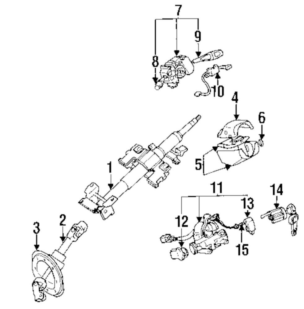1998 Mitsubishi Eclipse Parts 100259 1031 Steering Diagram Genuine Ignition Assy Mit Mb904627