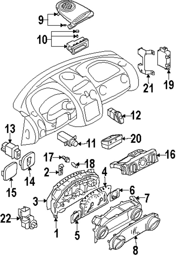 2003 mitsubishi eclipse parts diagram