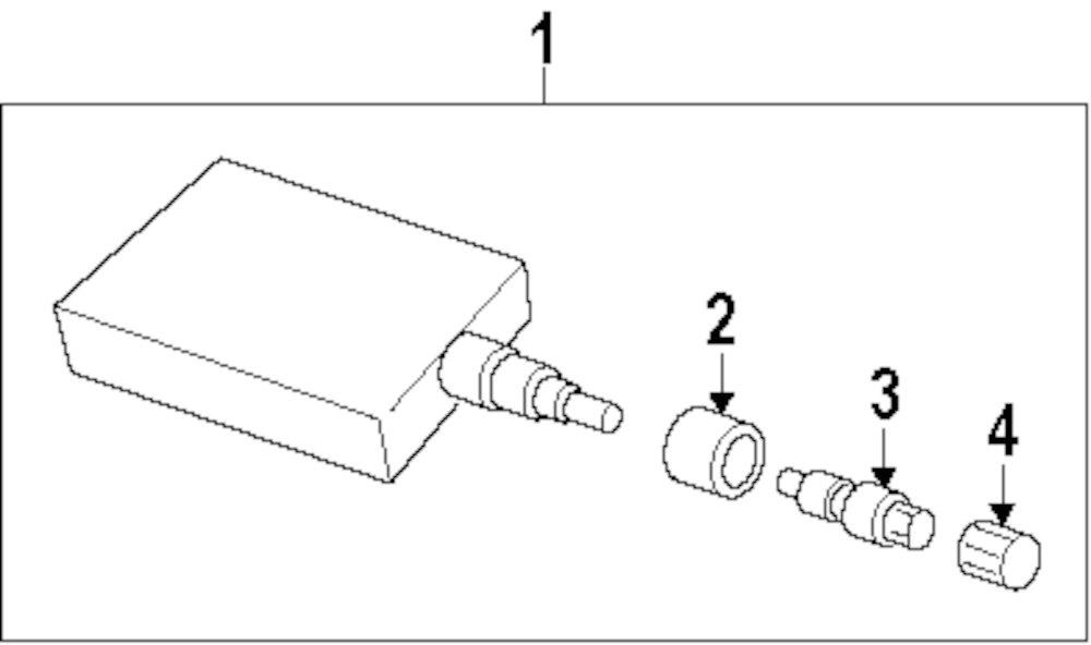 2009 Mitsubishi Eclipse Tire Pressure Monitor Components Parts