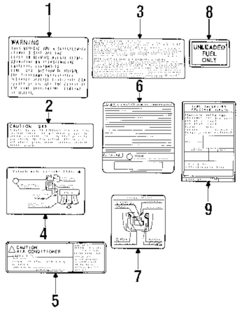 genuine mitsubishi - vacuum diagram - mit md307544
