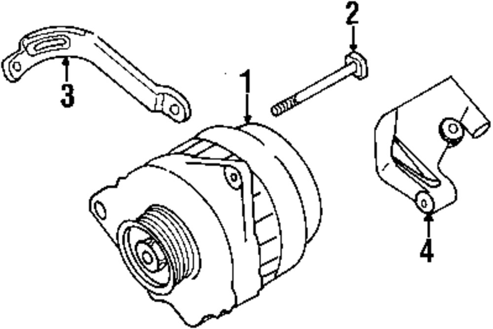browse a sub category to buy parts from mopardirectparts Eclipse 4 Wire Alternator genuine mitsubishi alternator mit m373093