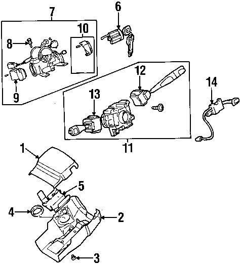 2003 Mitsubishi Galant Shroud Switches And Levers Parts This Is Steering Diagram Genuine Protector Mit Mr270878