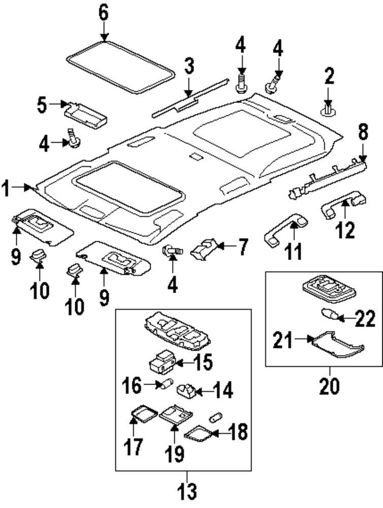 mitsubishi sunroof diagram