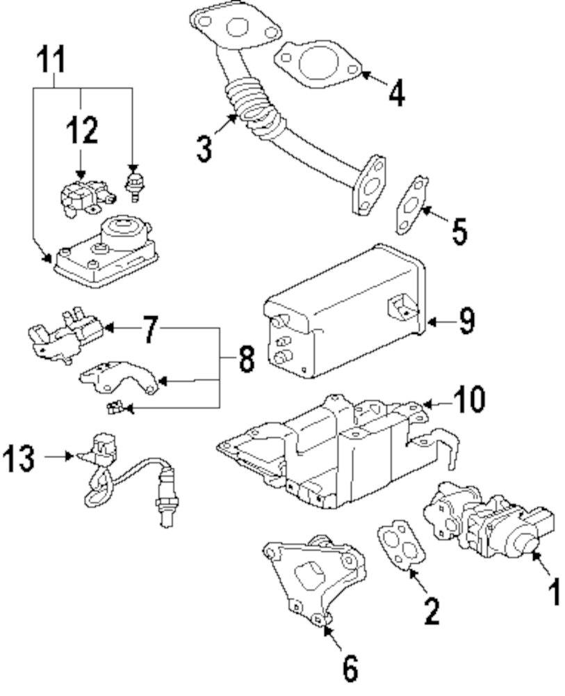 2004 mitsubishi endeavor emission components parts