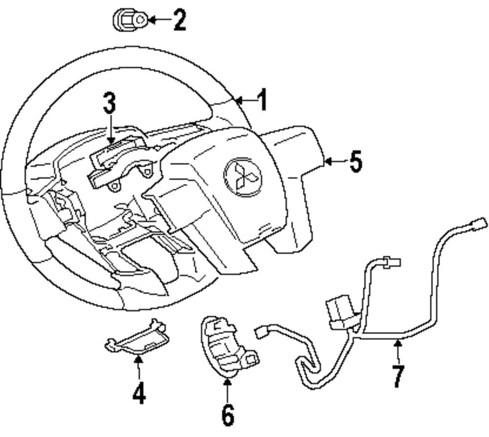 mitsubishi steering diagram